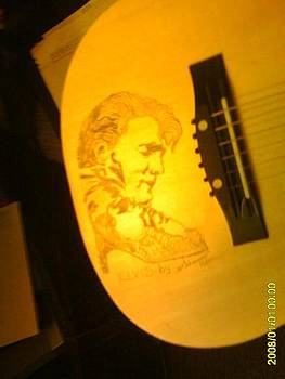 Elvis sketch on acoustic guitar No.1 by Timothy Wilkerson