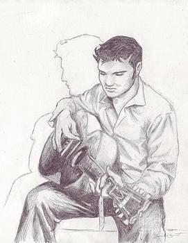 Elvis Sketch by Samantha Geernaert