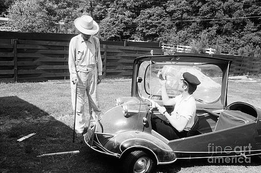 The Harrington Collection - Elvis with his Messerschmitt Microcar 1956