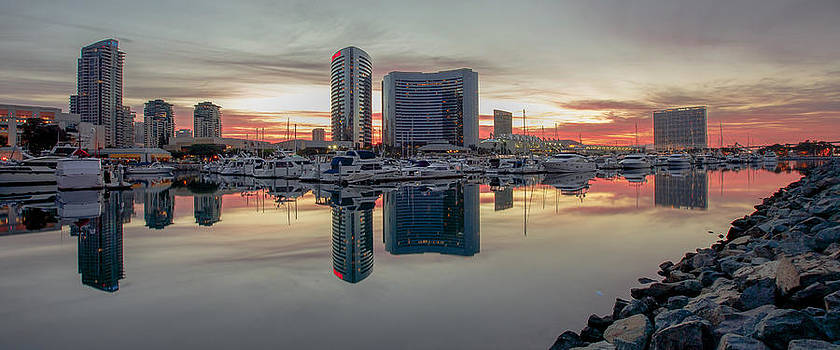 Embarcadero Marina Sunrise by Robert  Aycock