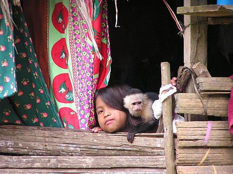 Embera child by Rollin Jewett