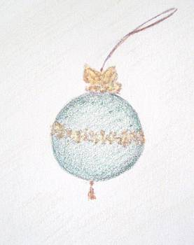 Emerald Christmas Ornament by Christine Corretti