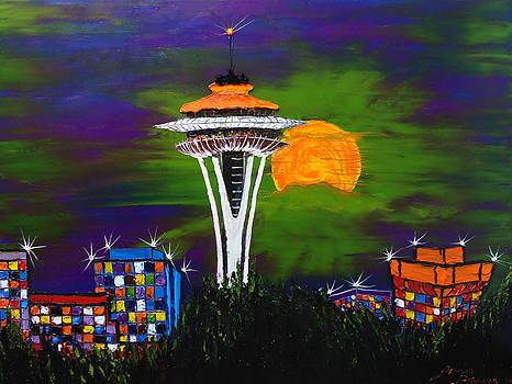 Emerald City Seattle #3 by Portland Art Creations