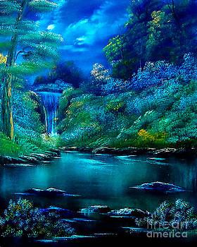Emerald Falls 2 by Cynthia Adams