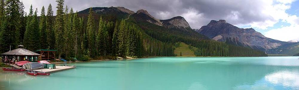 Emerald Lake Panoramic Glow, Yoho National Park, British Columbia, Canada by Ian Mcadie