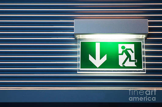Emergency exit sign by Luis Alvarenga