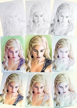 Emilia Clarke miniature step by step by Wu Wei