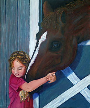 Emma and her Horse by Esther Rivas