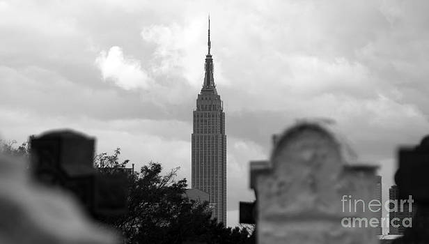 Empire State Building Seen From Calvary Cemetery in Queens by Mark Thomas