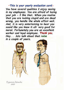 Employee Thank you Card Evaluation by Michael Shone SR