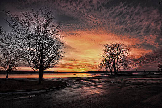 Empty Lot Sunset by Chris Babcock