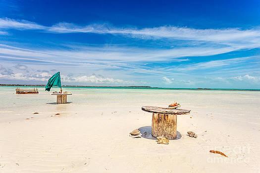 Jo Ann Snover - Empty tables on beach