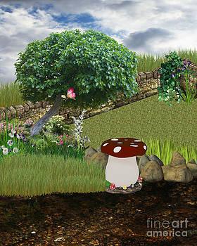 Enchanted Mushroom Background 2 by ChelsyLotze International Studio