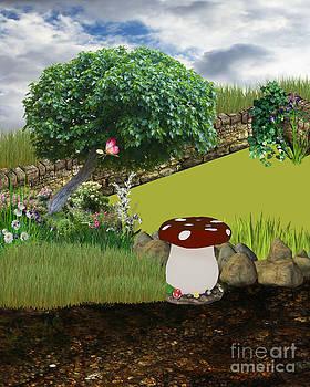 Enchanted Mushroom Background by ChelsyLotze International Studio