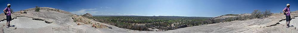 Enchanted Rock Panorama by Greg Reed