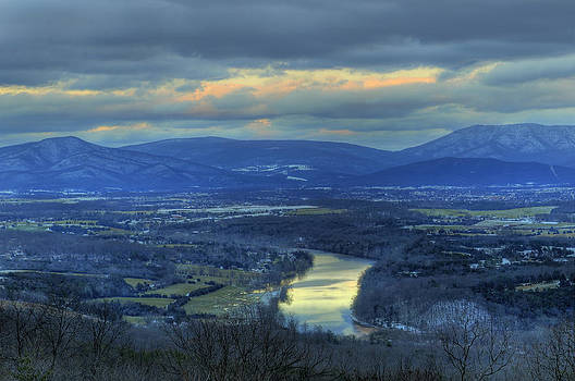 Lara Ellis - End of December Shenandoah Valley Sunset 2012