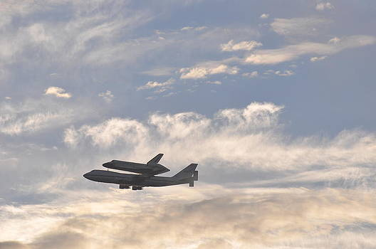 Endeavor Morning Flyover 2 by Russell Libonati