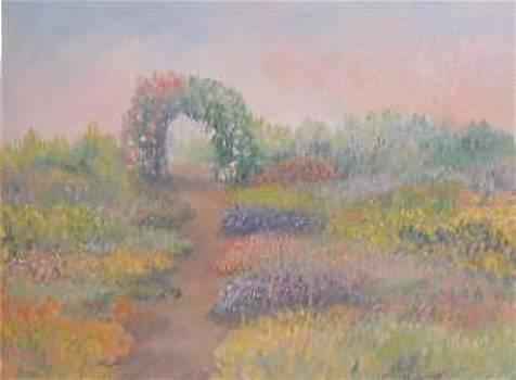 English Garden Arbor by Sherri Anderson