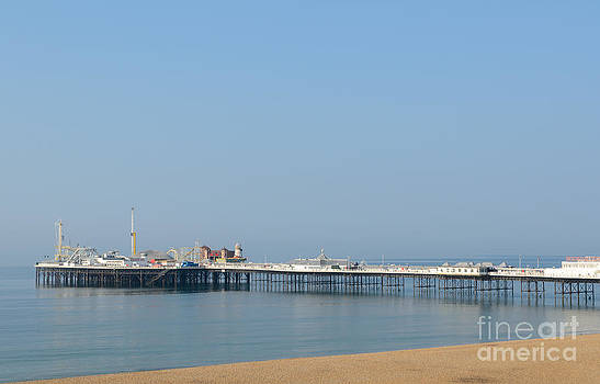 English Victorian Seaside Pier - Brighton - Sussex by David Hill