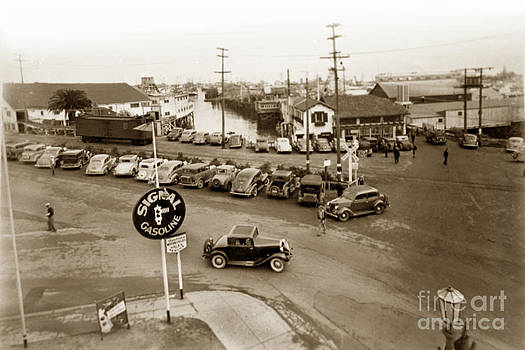 California Views Mr Pat Hathaway Archives - Entrance to Monterey Fishermens Wharf and Booth Cannery circa 1935