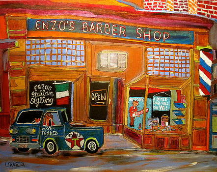 Enzo's Barber Shop by Michael Litvack