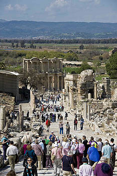 Ephesus Walk to Celsus by Cliff C Morris Jr