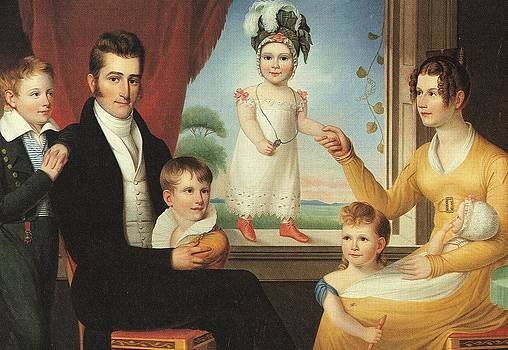 Ephraim Hubbard Family by Ralph E Earl