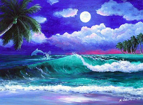 Epiphany of the Moon and the Sea by Amy Scholten