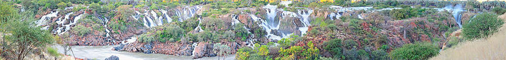 Epupa waterfall panorama by Grobler Du Preez