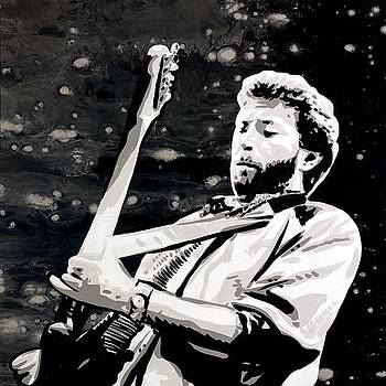 Eric Clapton 24x24 Painting On by Ocean Clark