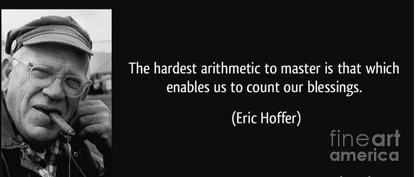 Roberto Prusso - Eric Hoffer - Quote