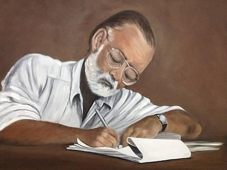 Ernest Hemingway by Caroline  Stuhr