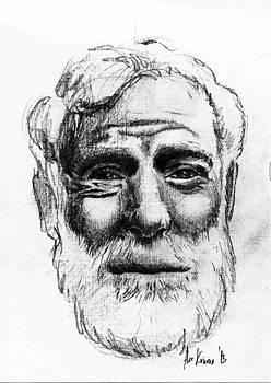 Ernest Hemingway Portrait  by Alexandra-Emily Kokova