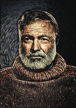 Ernest Hemingway by Zapista Zapista