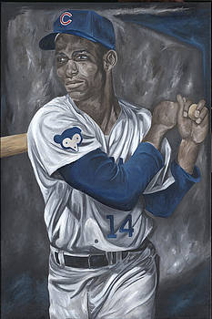 Ernie Banks by David Courson