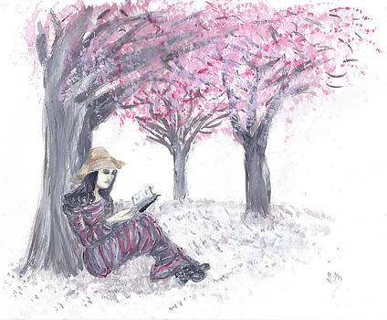 Escape Under the Cherry Blossom Trees by Sabina Mollot