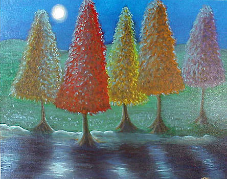 Escaping Christmas Trees by Terri West