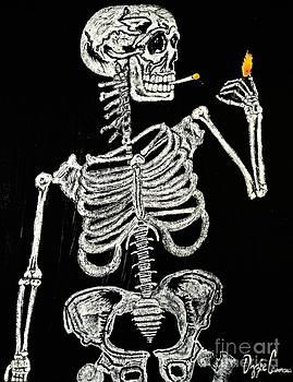 Eskeleto Fumador by Visual Renegade Art