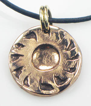 Esprit del Sol Sun Spirit Bronze Pendant by Vagabond Folk Art - Virginia Vivier