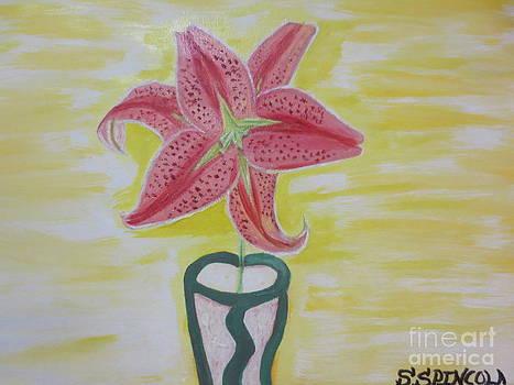 Ester Lily Oil in Vase by Sandra Spincola