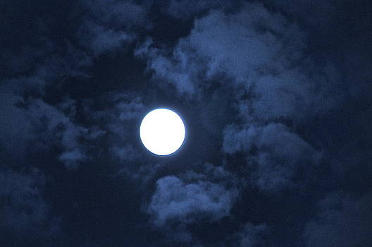 Ethereal Moon in Blue by Bruce Smith