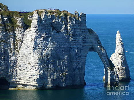 Etretat in the Normandy by Christine Huwer