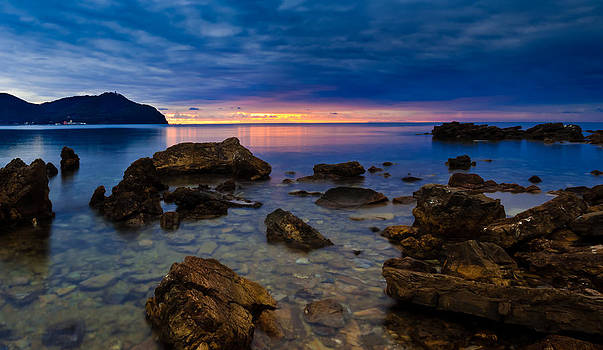Etruscian Sunset at Populonia by Charles Lupica