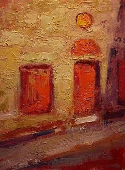 Etude of a stone barn in Sienna by R W Goetting