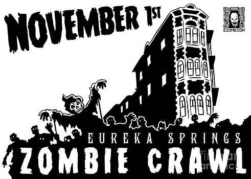 Jeff Danos and Kiko Garcia - Eureka Springs Zombie Crawl 2014 Black and White