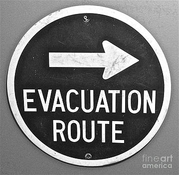 Evacuation Route Black and White by M West