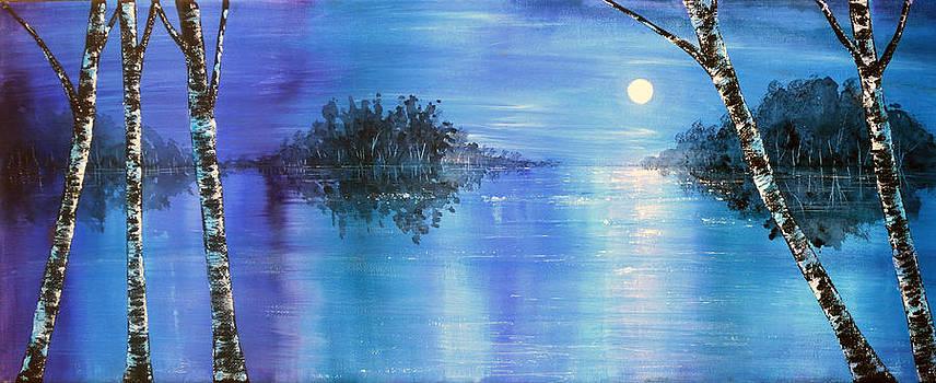 Evening Birches by Ann Marie Bone