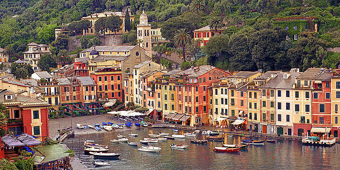 Evening Glow Portofino Harbor by Paul James