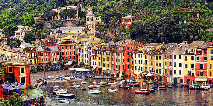 Evening Glow Portofino Italy by Paul James