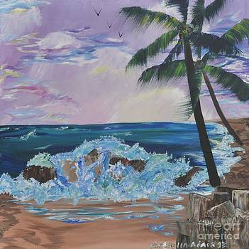 Evening High Tide by Kimbrella  Studio